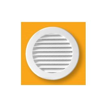 Kratka  wentylacyjna plastikowa okrągła śr.125/P biała/siatka