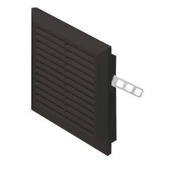 Kratka  wentylacyjna plastikowa Awenta 14x14 czarna T40