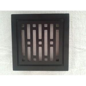 Kratka wentylacyjna metalowa 14x21 czarna paski