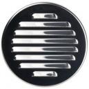 Kratka wentylacyjna metalowa nierdzewna śr.125chrom M11