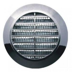 Kratka  wentylacyjna plastikowa śr.70/T75/chrom/siatka