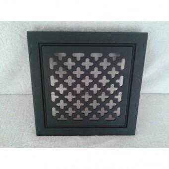 Kratka wentylacyjna metalowa retro10x14 czarna krzyżyki