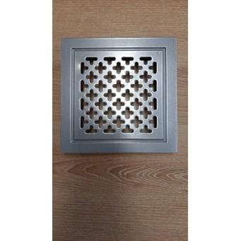 Kratka wentylacyjna metalowa 14x21 biała krzyżyki