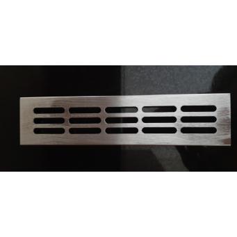Kratka wentylacyjna metalowa srebrna mat